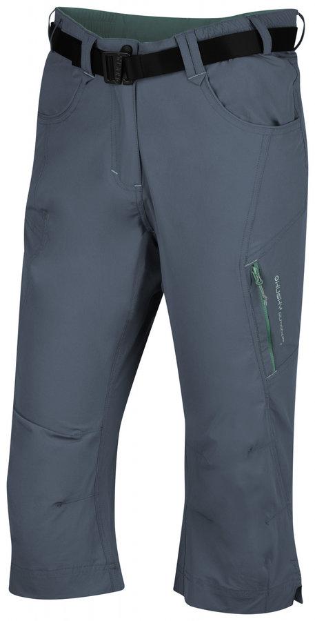 Šedé 3/4 dámské turistické kalhoty Husky - velikost M