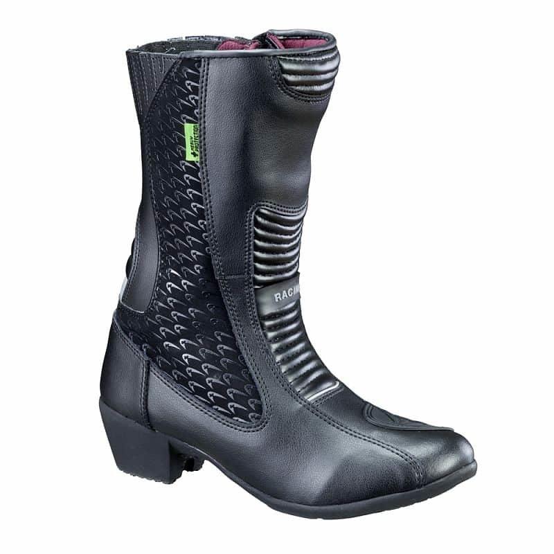 Černé vysoké dámské motorkářské boty Kurkisa NF-6090, W-TEC