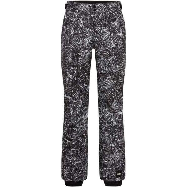Bílo-černé dámské lyžařské kalhoty O'Neill - velikost XL
