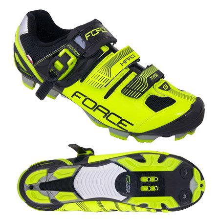 Černo-žluté cyklistické tretry MTB Hard, Force - velikost 41 EU