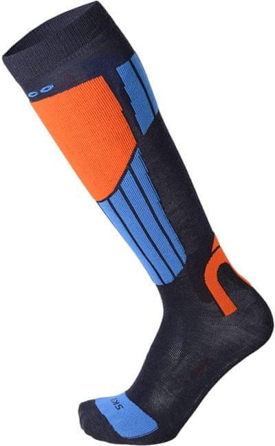 Modro-oranžové lyžařské ponožky Mico