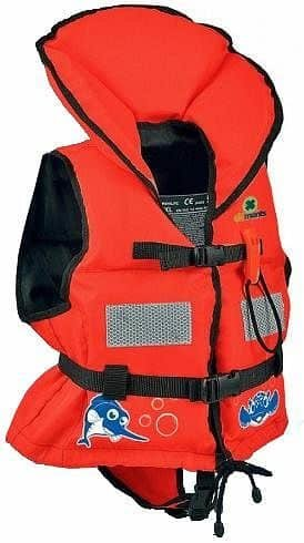 Červená dětská plovací vesta