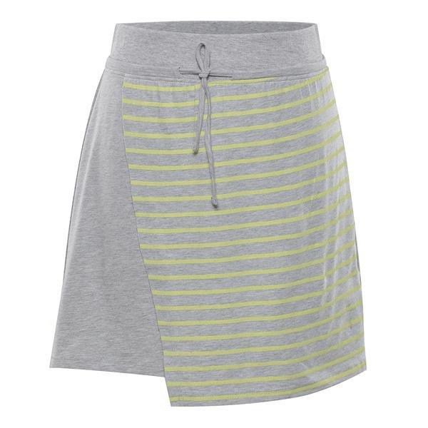 Šedo-žlutá dámská sukně Alpine Pro