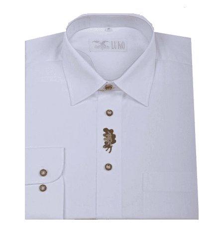 Bílá pánská lovecká košile s dlouhým rukávem Luko - velikost 47