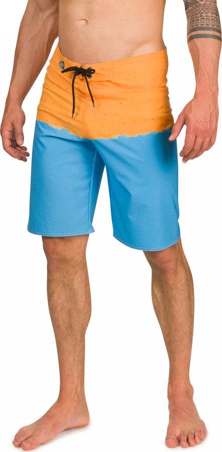 Modro-oranžové sportovní pánské kraťasy Woox
