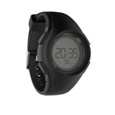 Černé digitální hodinky Kalenji