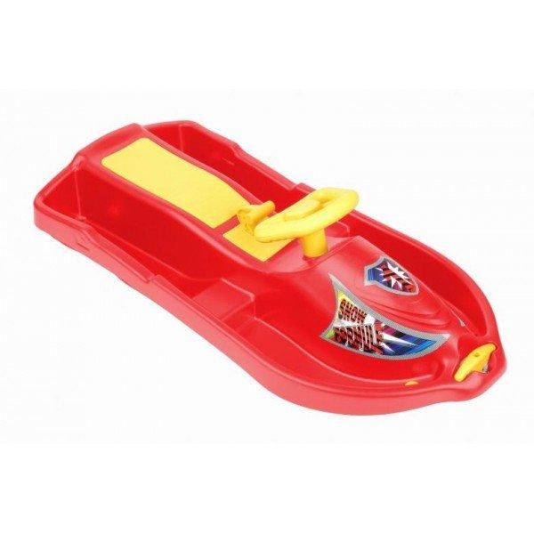 Červené dětské boby s volantem Sedco