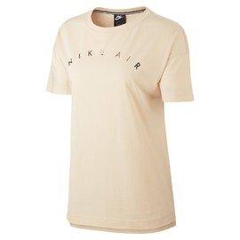Béžové dámské tričko s krátkým rukávem Nike - velikost M