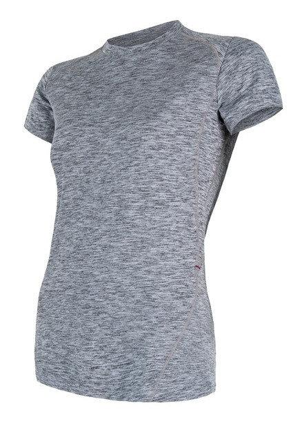 Šedé dámské tričko s krátkým rukávem Sensor