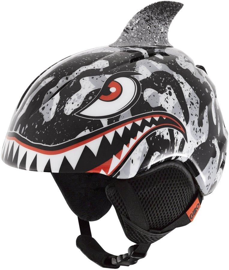 Černo-šedá chlapecká lyžařská helma Giro