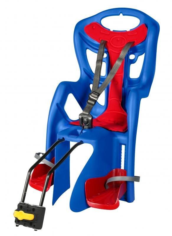 Červeno-modrá dětská sedačka na kolo Bellelli - nosnost 22 kg