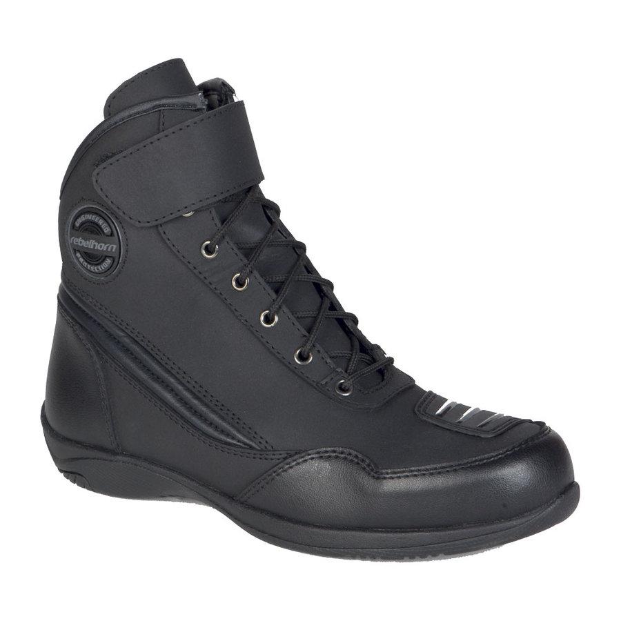 Černé nízké pánské motorkářské boty Lite, Ozone