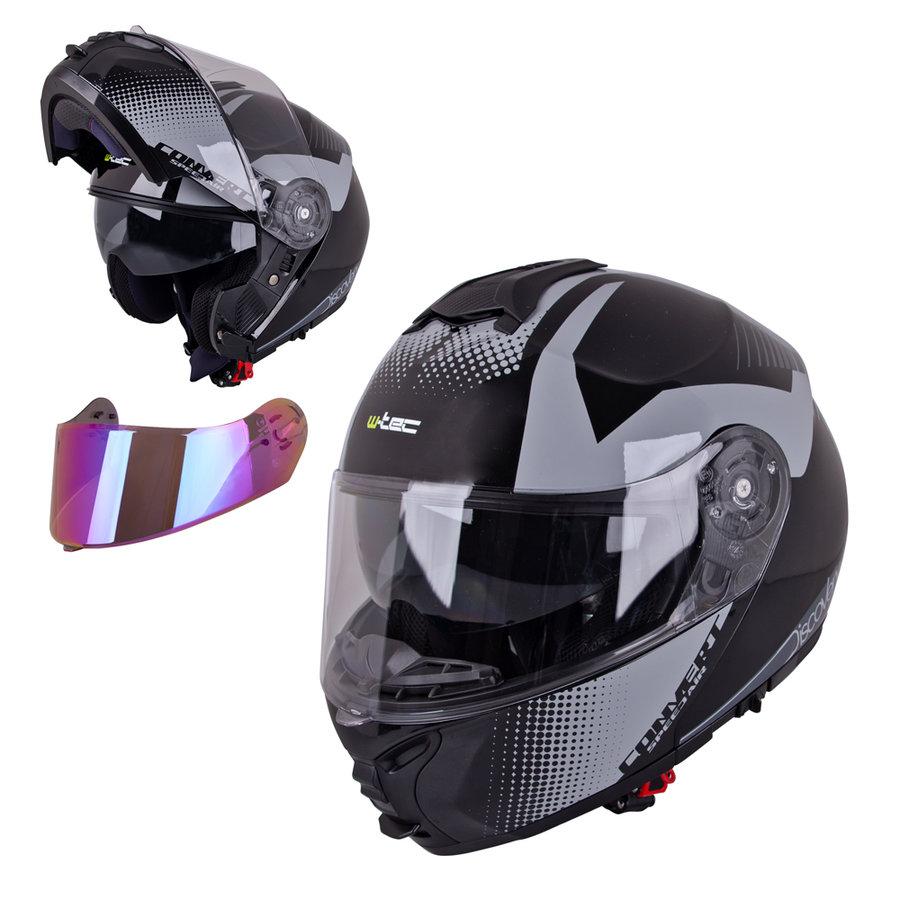 Helma na motorku FS-907, W-TEC - velikost 61-62 cm