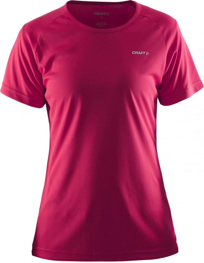 Růžové dámské funkční tričko s krátkým rukávem Craft