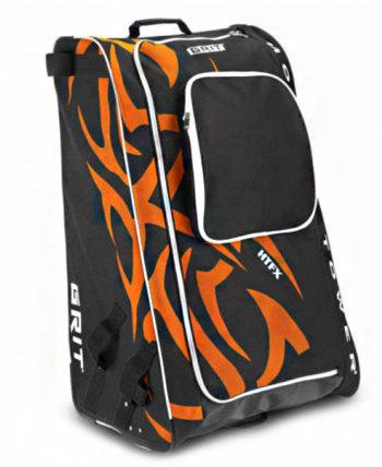 Černo-oranžová taška na hokejovou výstroj - senior Grit