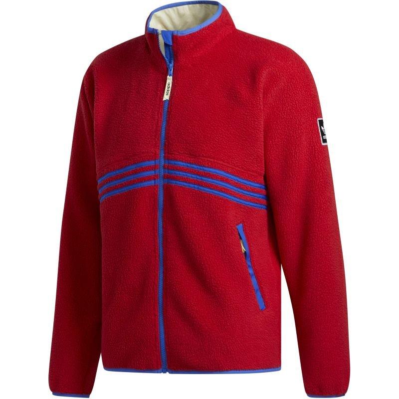 Červená pánská snowboardová bunda Adidas - velikost M