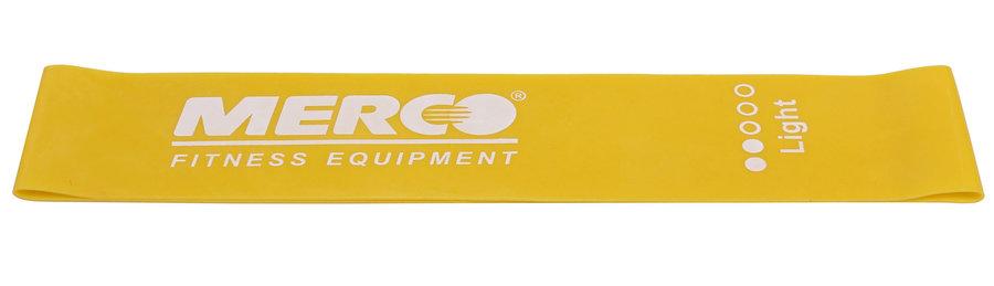 Posilovací guma - Merco Mini Band posilovací guma 50x5 cm žlutá