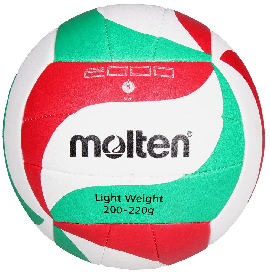 Různobarevný volejbalový míč V5M2000-L, Molten - velikost 5