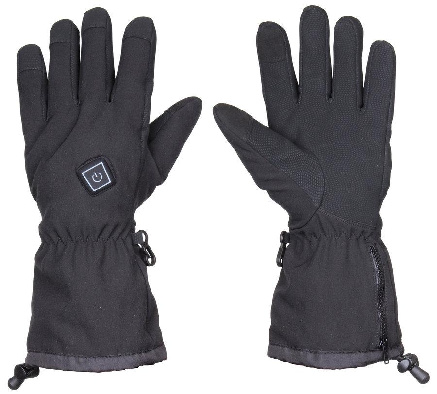 Černé lyžařské rukavice s vyhříváním Thermo Ski