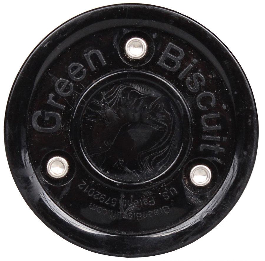 Černý hokejový puk off - ice Green Biscuit