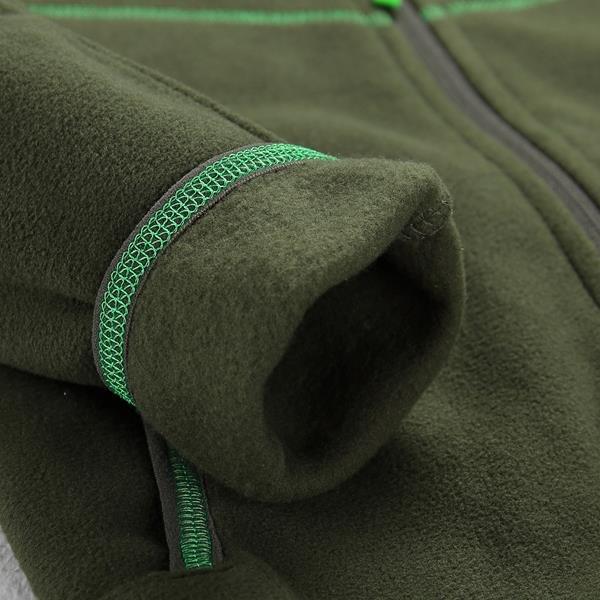 Zelená dětská mikina bez kapuce Alpine Pro - velikost 140-146