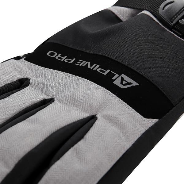 Šedé lyžařské rukavice Alpine Pro - velikost S