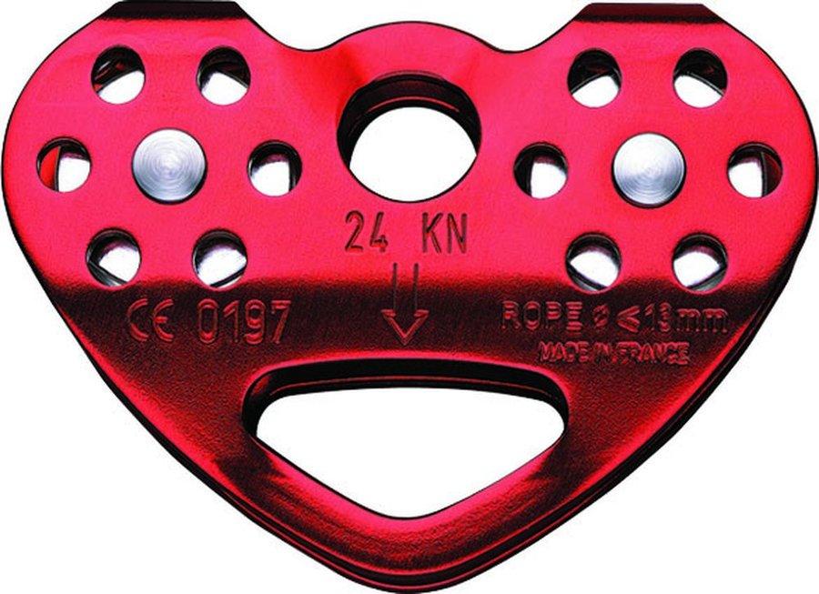Červená kladka dvojitý Petzl
