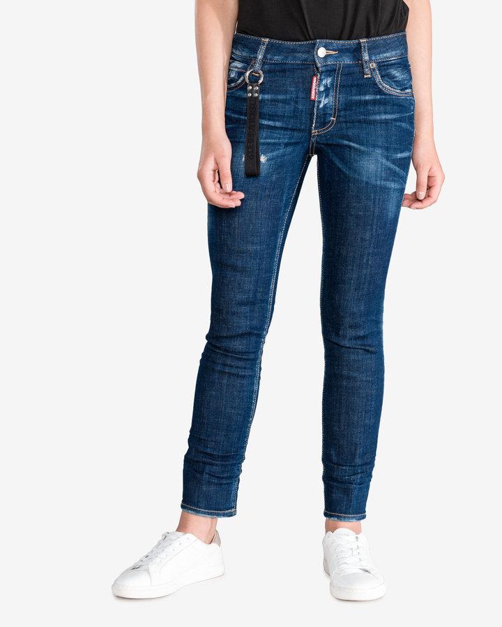 Modré dámské džíny DSQUARED2 - velikost 40