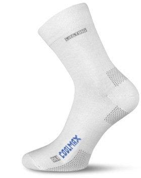 Bílé pánské trekové ponožky COOLMAX®, Lasting