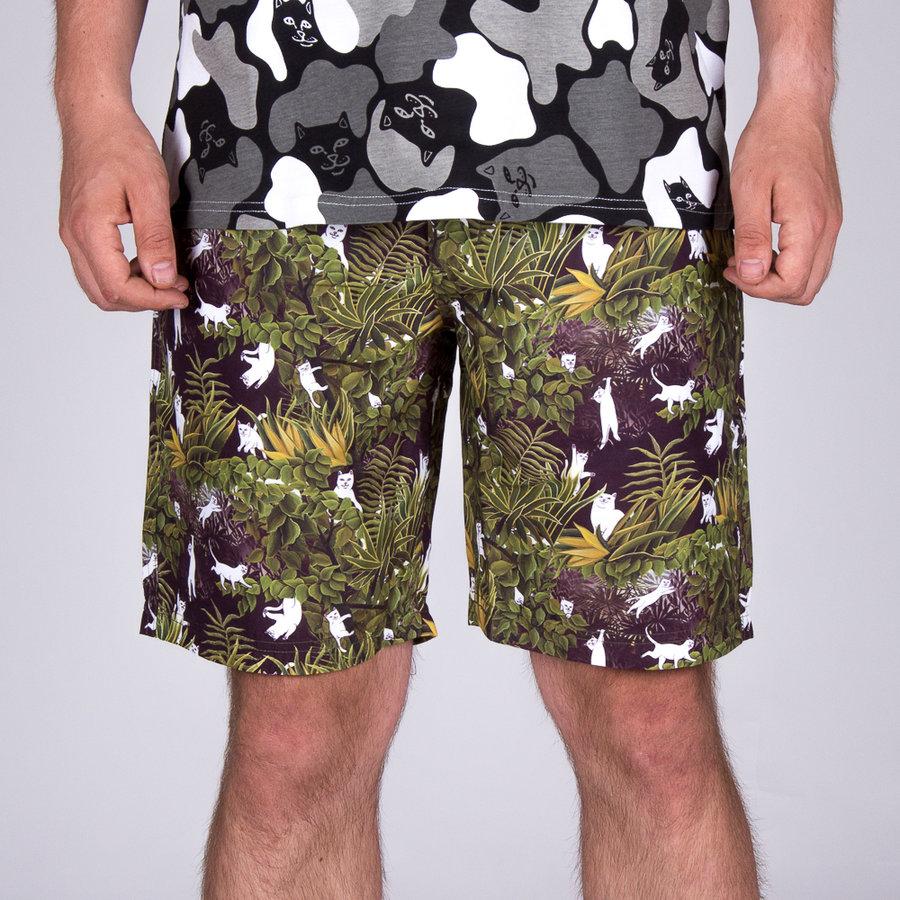 Zelené pánské koupací kraťasy Jungle Nerm Swim Shorts, Ripndip - velikost S