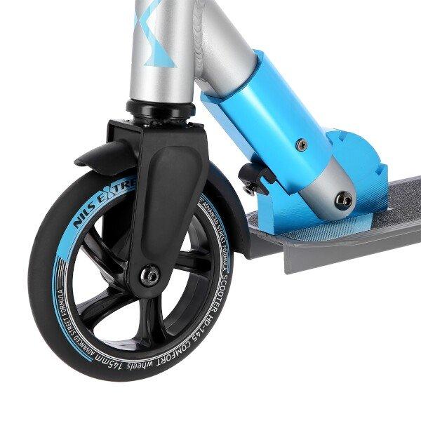 Modro-šedá koloběžka pro dospělé Nils Extreme - nosnost 100 kg