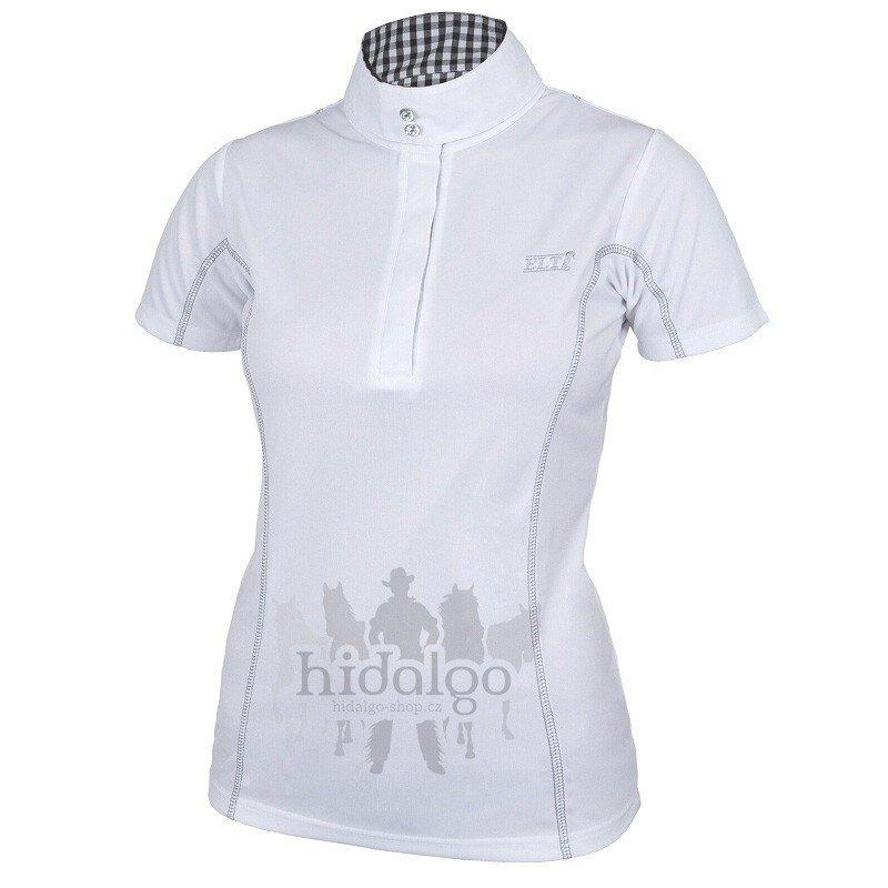 Bílé závodní dámské jezdecké tričko Waldhausen - velikost XS  ba29e15386