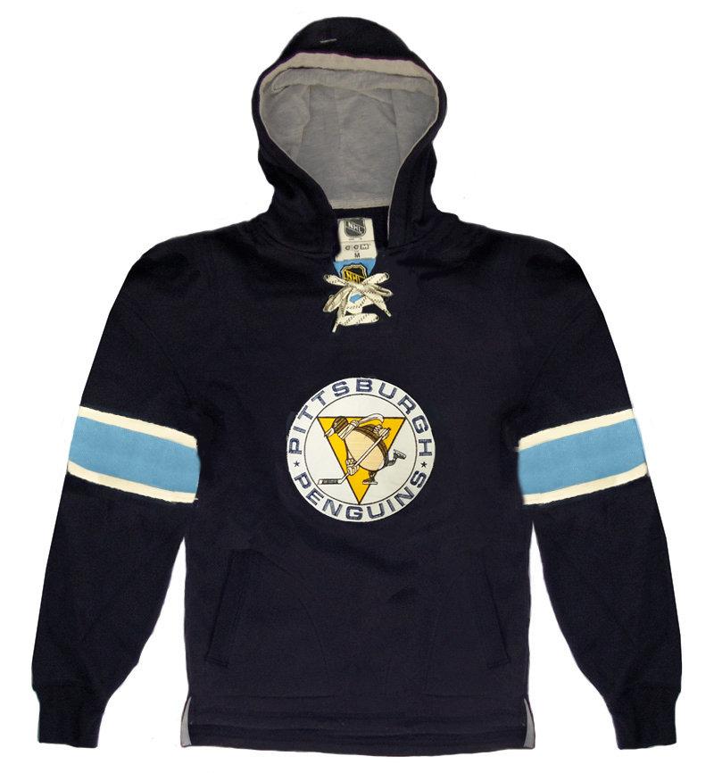 """Modrá pánská mikina s kapucí """"Pittsburgh Penguins"""", CCM - velikost M"""
