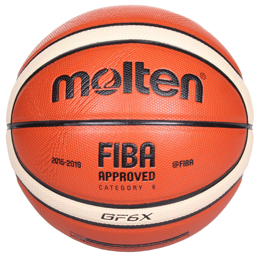 Oranžový basketbalový míč BGF6, Molten - velikost 6