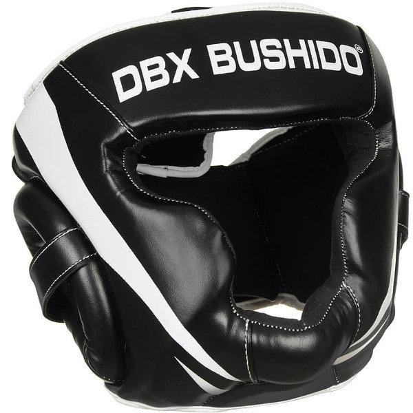 Bílo-černá boxerská přilba Bushido