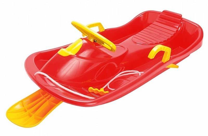 Červené dětské boby s volantem Dantoy