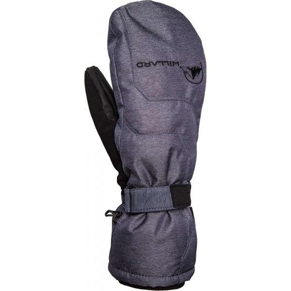 Šedé pánské lyžařské rukavice Willard - velikost XL