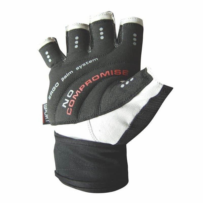 Bílo-černé fitness rukavice Power System - velikost XXL