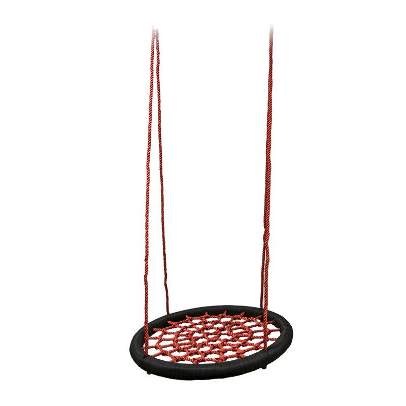 Černo-červený houpací kruh Master - průměr 80 cm