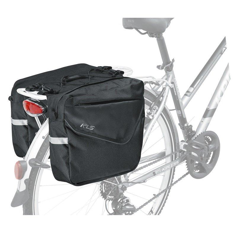 Černá brašna na kolo na zadní nosič Adventure, Kellys - objem 20 l