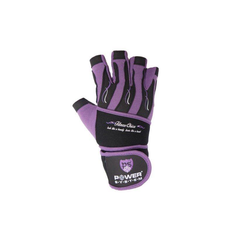 Fitness rukavice - Power System Fitness chica rukavice fialové Velikost XS