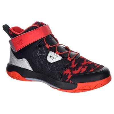 Černo-červené dětské basketbalové boty SP500, Tarmak - velikost 33 EU