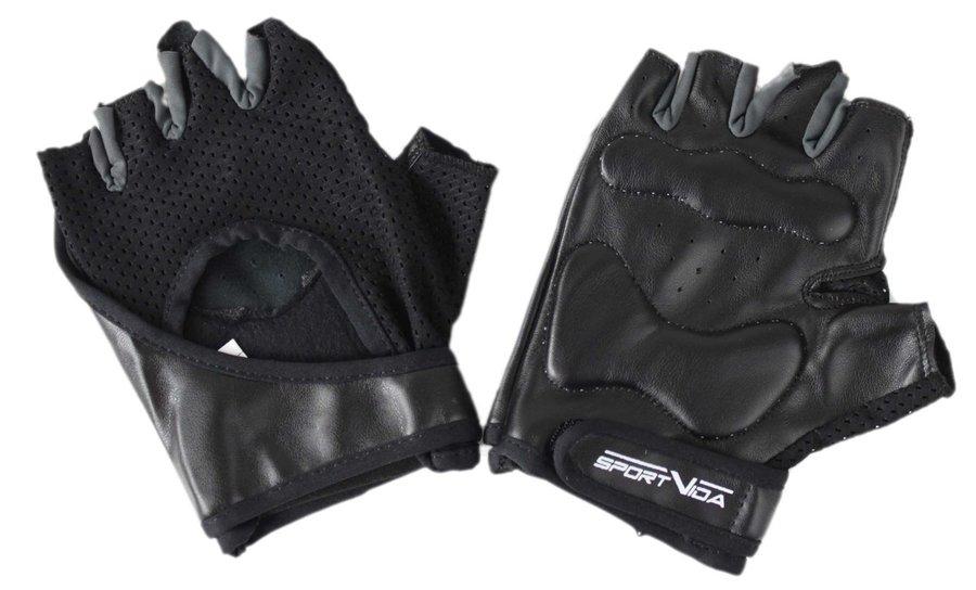 Černé fitness rukavice SVX - velikost L