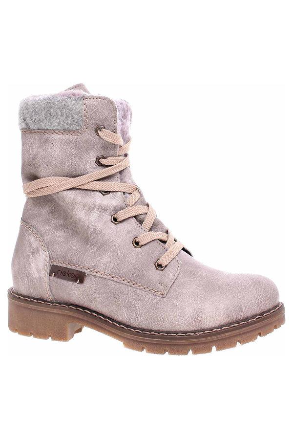 Šedé dámské kotníkové boty Rieker - velikost 37 EU