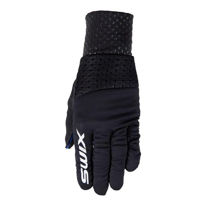 Černé dámské rukavice na běžky Swix