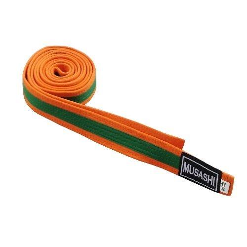Oranžovo-zelený judo pásek Dax