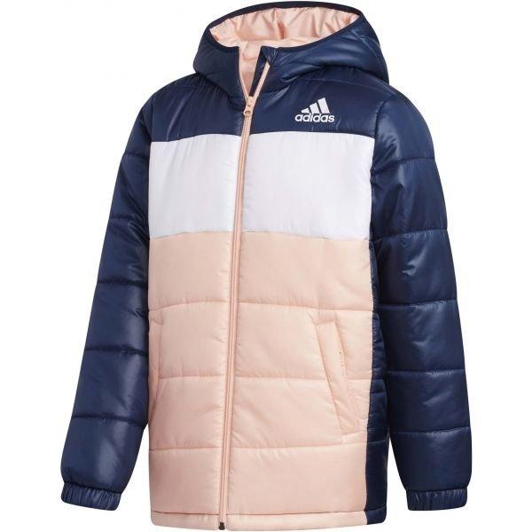 Modro-růžová zimní dívčí bunda Adidas