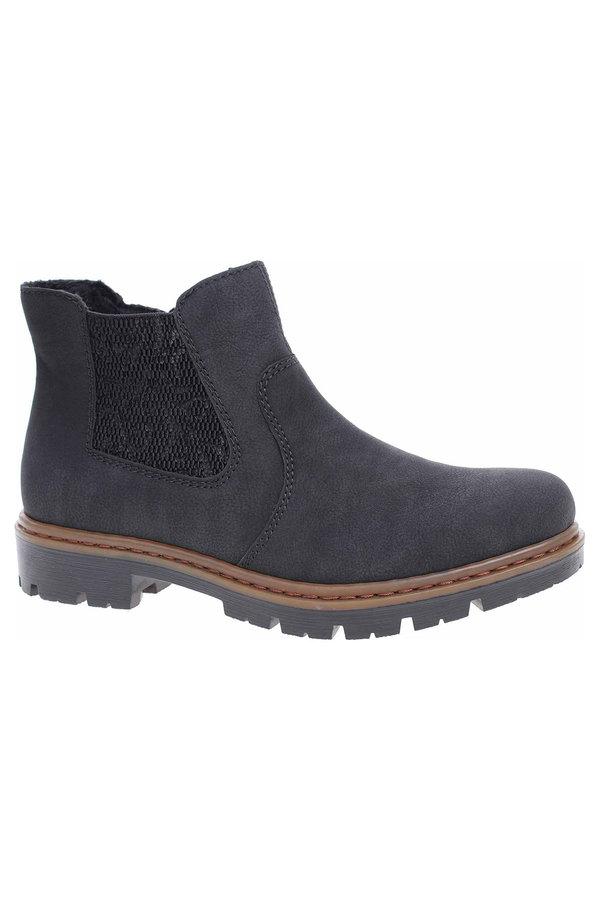Černé dámské zimní boty Rieker - velikost 37 EU