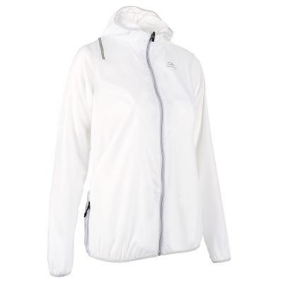 Bílá běžecká bunda Wind, Kalenji