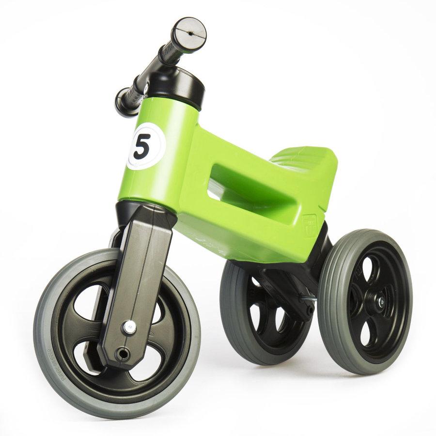 Černo-zelené dětské odrážedlo Funny Wheels